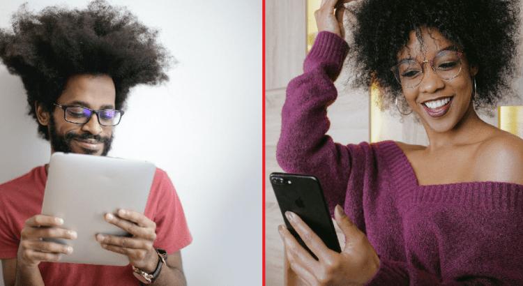 Casal-de-modelos-de-óculos-conversando-por-vídeo-chamada-como-tendência-para-o-dia-dos-namorados